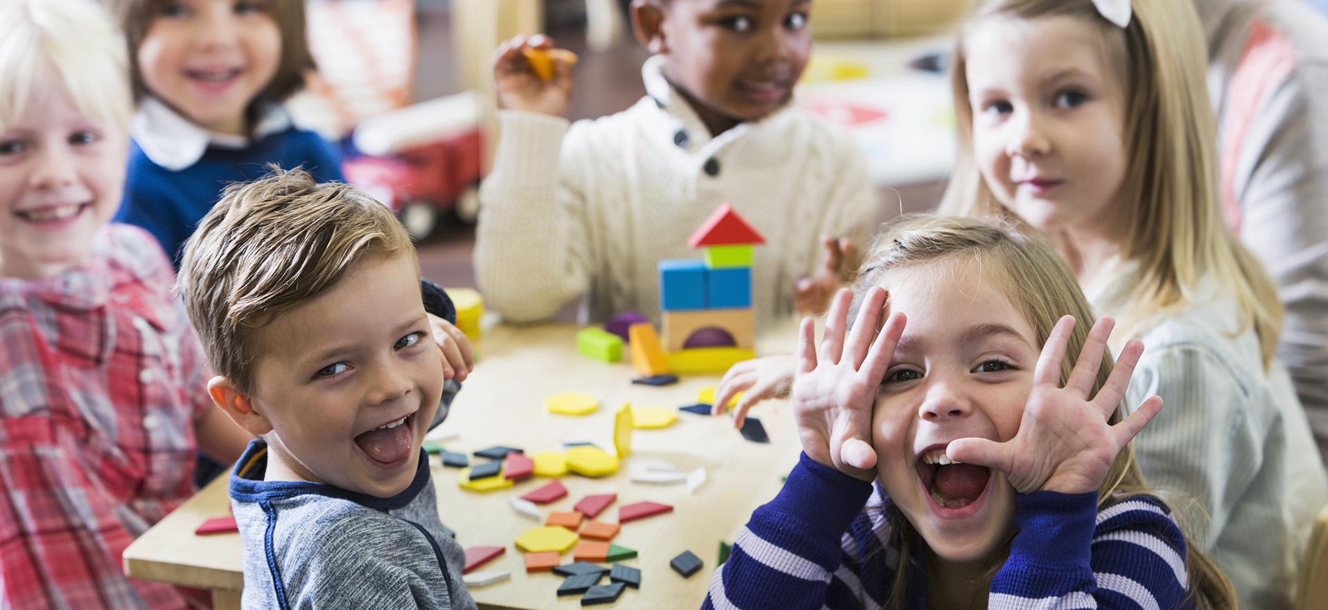 Kids at play in preschool